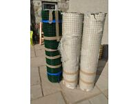 Green PVC-Coated Welded Mesh Fencing Wire. Green Fence Wire. Chicken Wire.