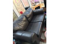 2 leather conservatory sofas