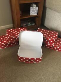 Small cardboard suitcase