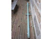 Antique cast iron washing line pole