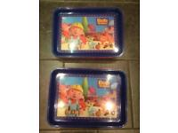 Children's Bob the Builder Bean bag Lap food Trays