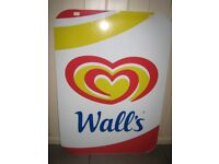 Wall's Ice cream metal advertising sign. Double sided. Good condition.