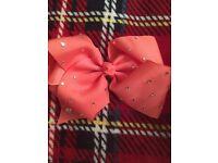 Coral Pink JoJo Bow