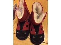 NEW JOHN LEWIS toddler girl size 9 Slipper boots