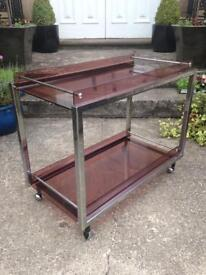 Vintage retro cocktail trolley / table