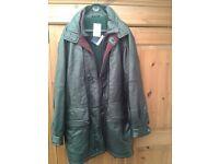 Gucci Black Leather Coat. Large/Extra Large. £300