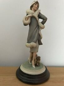 Vittorio Tessaro Lady with a Dog Figurine - Made it Italy