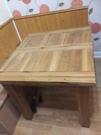 Good condition solid oak dining table