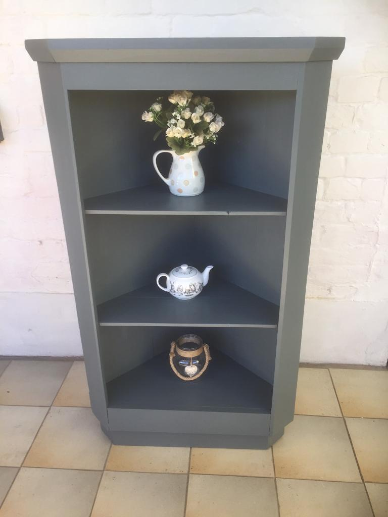 Corner shelf unitin Norwich, Norfolk - Painted in Craig & Rose monogram Measurements are H 114cm D 40cm W 67cm (across the front) Collection from nr28 0rq