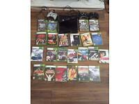 Xbox 360 mega bundle ! With thrust master wheel 250gb 20 games