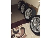 Audi replica lemans alloys 19 inch tyres and rims 1 month old