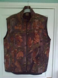 Jacket Men's Gilet, Jack Pyke, New Camouflage Gilet, XXLarge, 2 zipped side pockets & 2 interior poc
