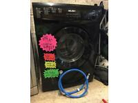 6kg 1200 spin black bush washing machine with free delivery & installation!