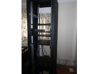 Equipment Rack - 19 inch rack, 6 foot high for studio/electronic equipment