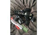 babyliss hairdryer curlers and few brushes/combs, hardly used