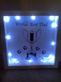 Fathers Day personalised boxed frame