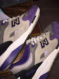 Purple black and grey newbalance absorb trainers good condition