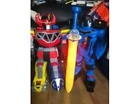 2 large action figures