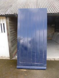 Solid wood external door