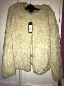 Brand new women's fur jacket