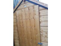 Wooden garden shed. Shiplap apex shed 6' x 4' new