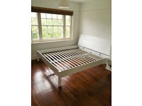 UK Super King Bed Frame: Hand Painted White