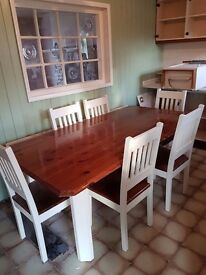 Six seater large dining table
