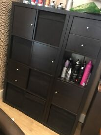2 units with cubbards and drawers