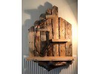 Beautiful large handmade rustic wooden shelving unit