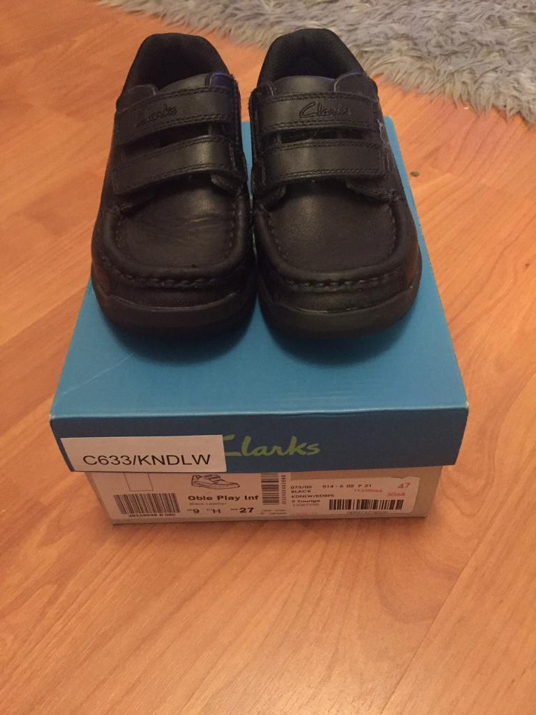 Boys Clarks School Shoes Size 9H Worn Once PERFECT CONDITION