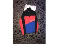 3-Palace TRACK SHELL TOP BLACK / HIBISCUS / BLUE