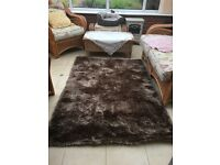 Large Brown Rug - 100% Polyester - Next