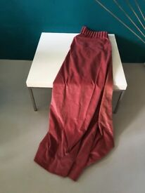 Vintage Pink Velvet Curtains Pair