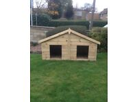 6x3 Double Apex Dog Kennel - FULLY T&G - Pressure treated timber- 10 year anti rot