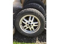 Grabber All terrain tyres and rims 255/55 18inch Set of 4