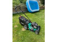 Qualcast petrol rotary lawn mower with grass bag 2019 model