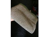 Silver sparkly clutch bag