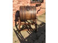 Vintage Antique Butter Barrel churn ideal rustic furniture for farmer or barn conversation