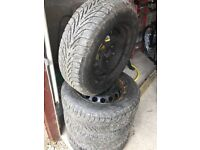 Fiat 500 winter tyres with steel rims