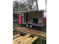 Ex fire department trailer, potential food truck or car transportation