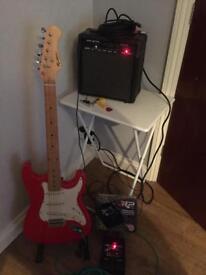 Rockburn Electric Guitar and amp
