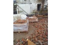 Reclaimed old time handmade red brick