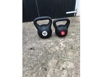2 Vinyl Ketllebells. 1 x 20kg, 1 x 24kg sold as a pair. Excellent condition.