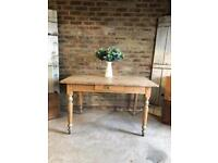 Rustic farmhouse desk kitchen dining table 4 seater