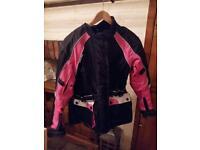 Women's ladies motorbike jacket and trousers