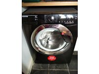 Hoover 9kg 1400 spin washing machine (black) - 3 MONTHS OLD - PRICE REDUCED