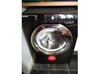 Hoover 9kg 1400 spin washing machine (black) - 3 MONTHS OLD