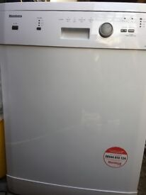 Freestanding Bloomberg dishwasher in white good & clean condition