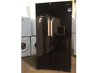 Beko GNEV221APB Black American Fridge Freezer Water Dispenser Frost Free