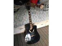 Dean v wing electro acoustic guitar